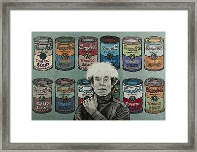 Andy Warhol Framed Print by Heidi Hooper