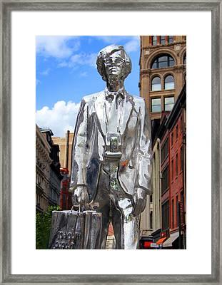 Andy Warhol Framed Print by Mark Ashkenazi