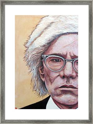Andy Warhol Framed Print by Tom Roderick