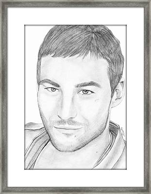 Andy Whitfield  Framed Print by Saki Art