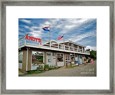 Andys At The Light Framed Print