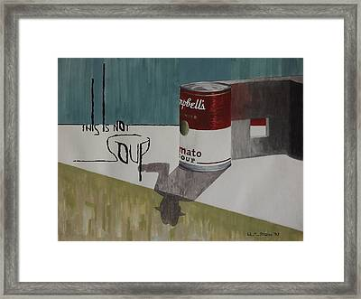 Andy's Contraviction Framed Print by W H Jordan