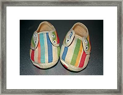Andy's Shoes Framed Print by KayeCee Spain