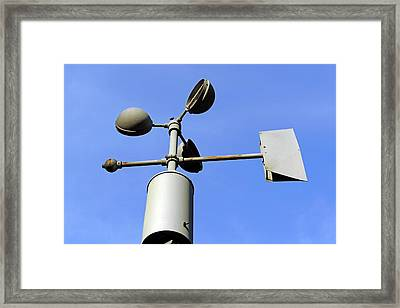 Anemometer And Wind Vane Framed Print by Bildagentur-online/mcphoto-schulz