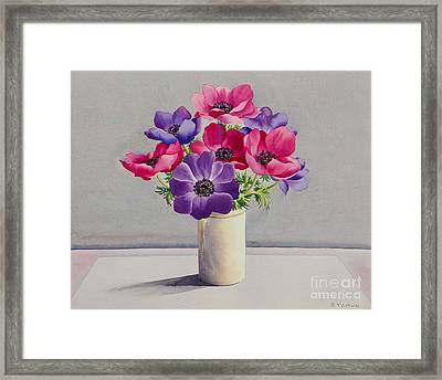 Anemones Framed Print by Christopher Ryland