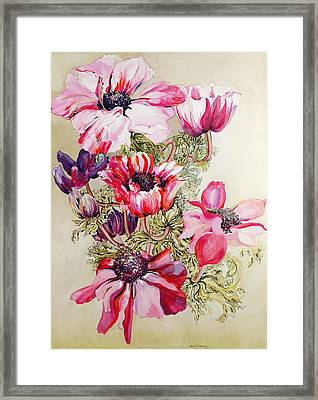 Anemones Framed Print by Joan Thewsey