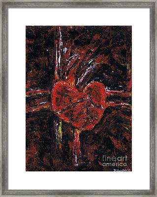 Aneurysm 2 - Middle Framed Print by Kamil Swiatek