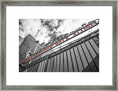 Anfield - The Shankly Gates Framed Print by Paul Madden