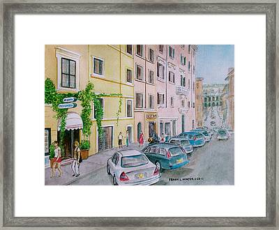 Anfiteatro Hotel Rome Italy Framed Print by Frank Hunter