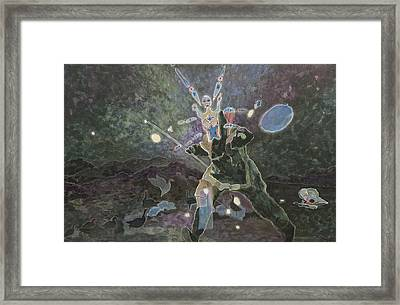 Angakok Snow Geese Arctic Fox Framed Print by Laureen McMullan