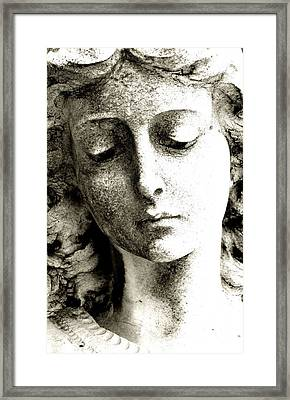 Angel 8 Face Of An Angel Framed Print by Maria Huntley