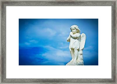 Angel Framed Print by Aged Pixel