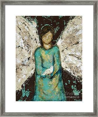 Angel  And  Dove Framed Print