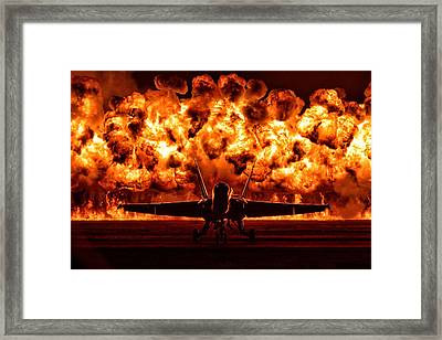 Angel And Fire Framed Print