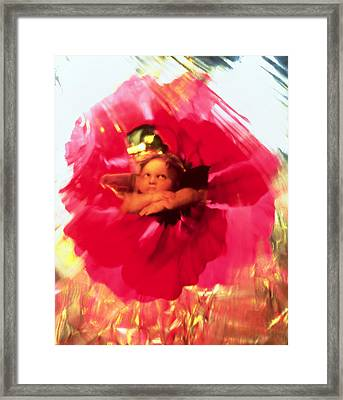 Angel And Poppy Framed Print