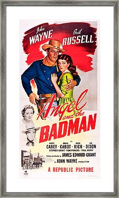 Angel And The Badman, Top L-r John Framed Print by Everett