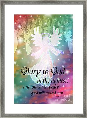 Angel Announcement Framed Print