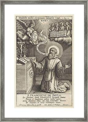 Angel Appears To St Framed Print