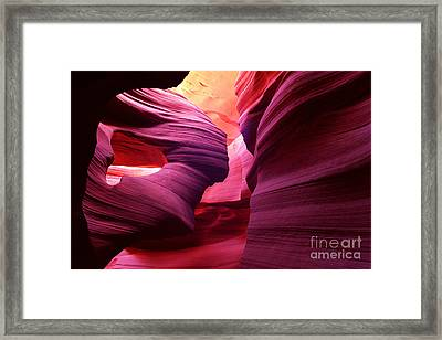 Angel Arch In Antelope Canyon Framed Print
