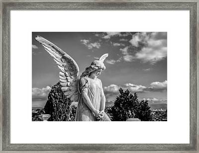Angel At The Heredia General Cemetery Framed Print by Andres Leon