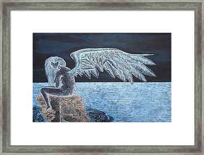 Angel Awaits Framed Print by Dwayne  Hamilton