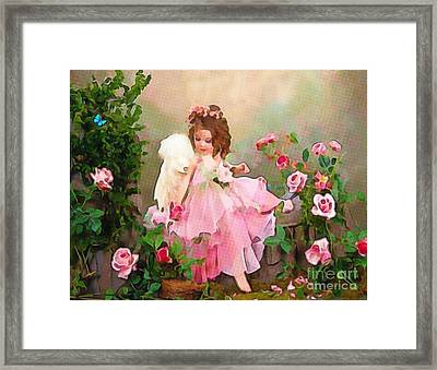 Angel And Baby  Framed Print