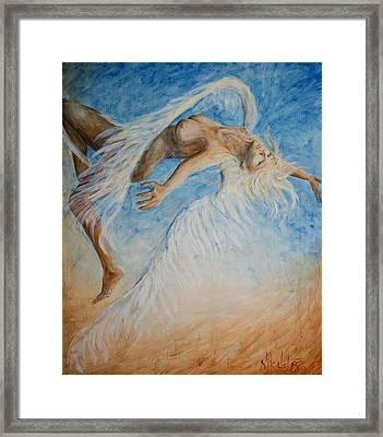 Angel Blu Drifter Framed Print by Nik Helbig