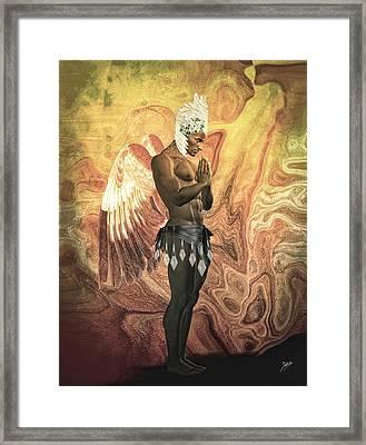 Angel Cabaret Framed Print by Quim Abella