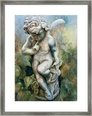 Angel-cherub Framed Print by Eve Riser Roberts