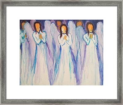 Angel Choir Framed Print