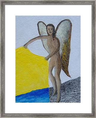 Angel Close Up Framed Print by Steve  Hester