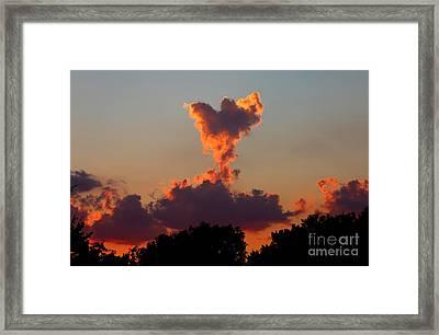 Angel Cloud Framed Print by Marty Fancy