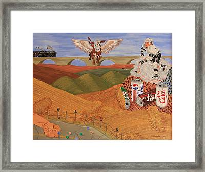 Angel Cow Framed Print by Mike Nahorniak