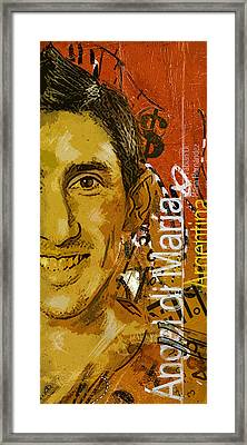Angel Di Maria - B Framed Print by Corporate Art Task Force