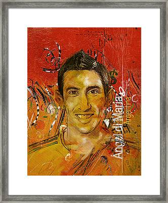 Angel Di Maria Framed Print by Corporate Art Task Force