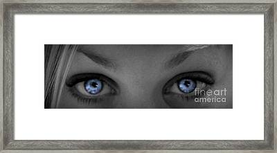 Angel Eyes Framed Print by Janice Westerberg