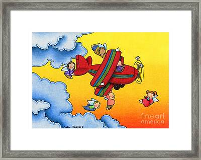 Angel Flight Framed Print