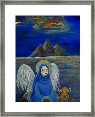 Angel From Eygpt Called Lapis Lazueli Framed Print by The Art With A Heart By Charlotte Phillips