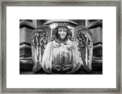 Angel Gargoyle University Of Chicago Framed Print by Joseph Duba