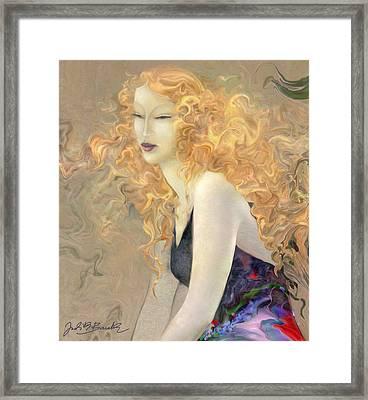 Angel Hair Framed Print