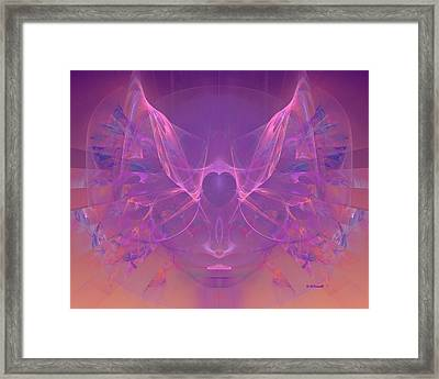 Angel Heart - Dedicated To Women In Service To Others Framed Print