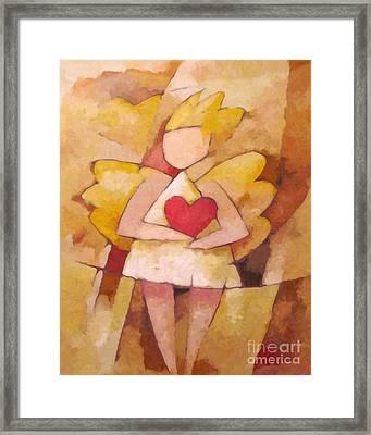 Angel Heart Framed Print