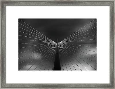 Angel In Black And White Framed Print
