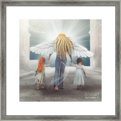 Angel In Blue Jeans Framed Print