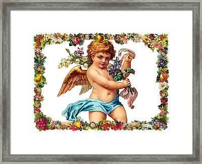 Angel In Blue Framed Print by Munir Alawi