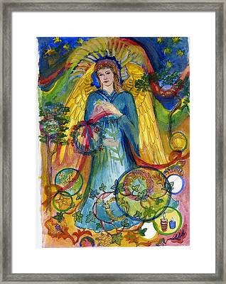 Angel In Blue Framed Print