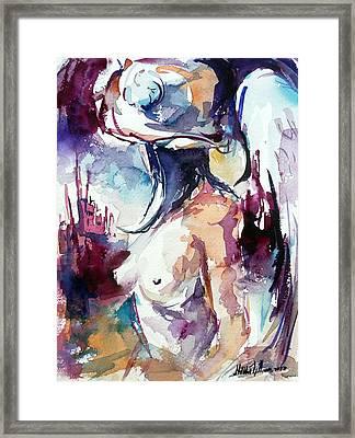 Angel In Hat Framed Print