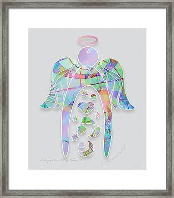 Angel In My Heart Framed Print by Gayle Odsather