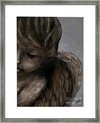 Angel In Pencil Framed Print