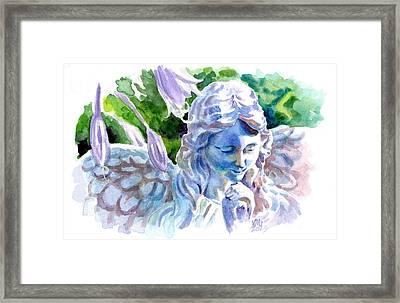 Angel In Stone Framed Print by Ken Meyer jr